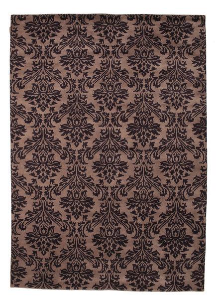 Himalaya Rug 170X240 Authentic  Modern Handknotted Black/Dark Brown (Wool, India)