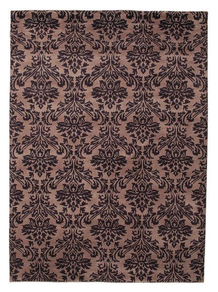 Himalaya 絨毯 170X236 モダン 手織り 深紅色の/薄茶色 (ウール, インド)