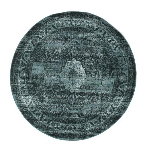 Jacinda - Ciemny Dywan Ø 150 Nowoczesny Okrągły Niebieski/Turkusowy Niebieski/Ciemnoniebieski ( Turcja)