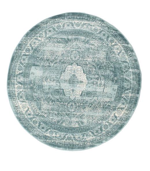 Jacinda - Clair Tapis Ø 150 Moderne Rond Bleu Clair/Turquoise Foncé ( Turquie)