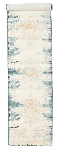 Alaska - Light Blue/Cream Rug 80X400 Modern Hallway Runner  Beige/Light Grey ( Turkey)