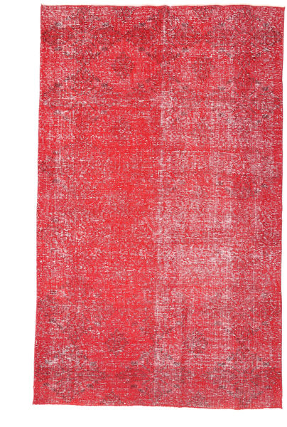 Colored Vintage Rug 133X223 Authentic  Modern Handknotted Rust Red/Pink/Crimson Red (Wool, Turkey)