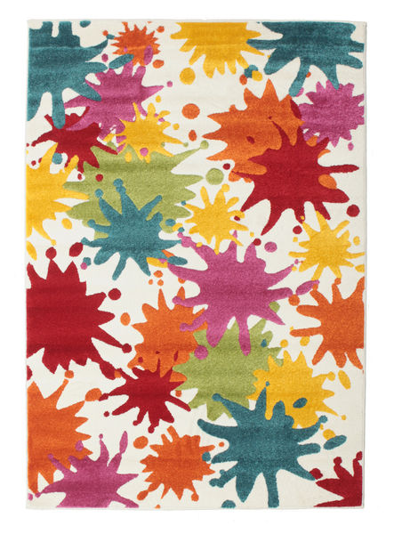Splash Rug 160X230 Modern White/Creme/Rust Red ( Turkey)