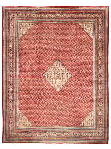 Sarouk Mir Rug 310X425 Authentic  Oriental Handknotted Light Brown/Brown Large (Wool, Persia/Iran)