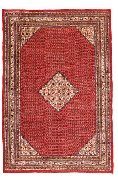 Sarough Mir Matta 245X360 Äkta Orientalisk Handknuten Mörkröd/Röd (Ull, Persien/Iran)