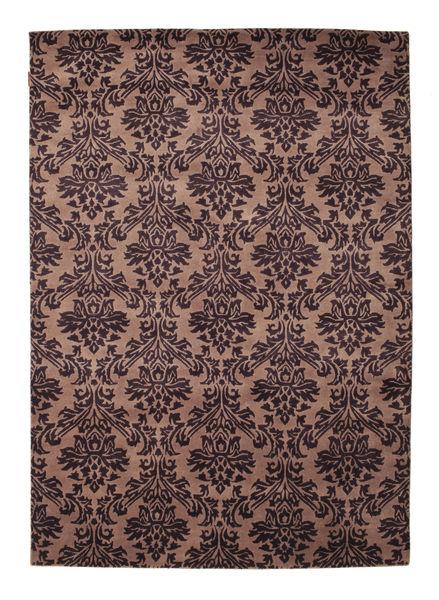 Himalaya Matto 170X243 Moderni Käsinsolmittu Vaaleanruskea/Tummanpunainen (Villa, Intia)