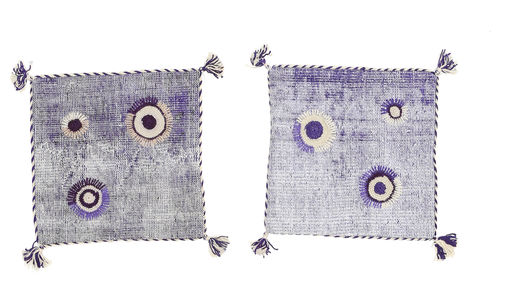 Pillowcase Vintage Relief Rug 50X50 Authentic  Oriental Handknotted Square Light Purple (Wool, Turkey)