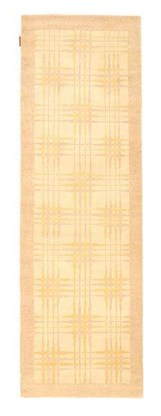 Ziegler Moderni Matto 77X242 Moderni Käsinsolmittu Käytävämatto Tummanbeige/Vaaleanpunainen (Villa, Pakistan)