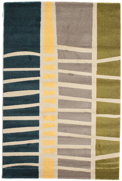 Abstract Bamboo Rug 160X230 Modern Light Brown/Dark Blue ( Turkey)