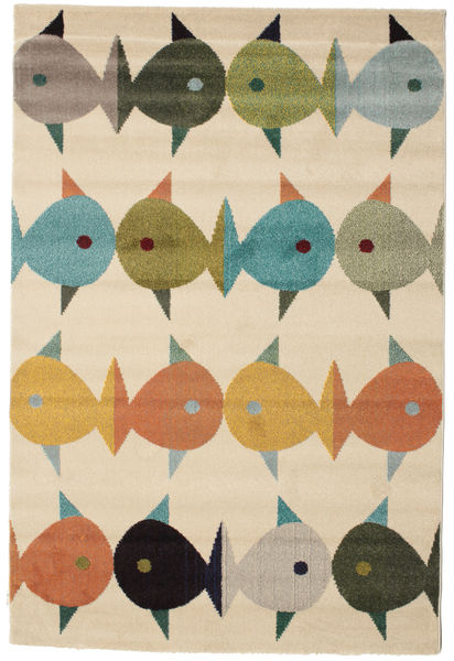 Fugl Og Fisk Tapis 160X230 Moderne Marron Clair/Beige ( Turquie)