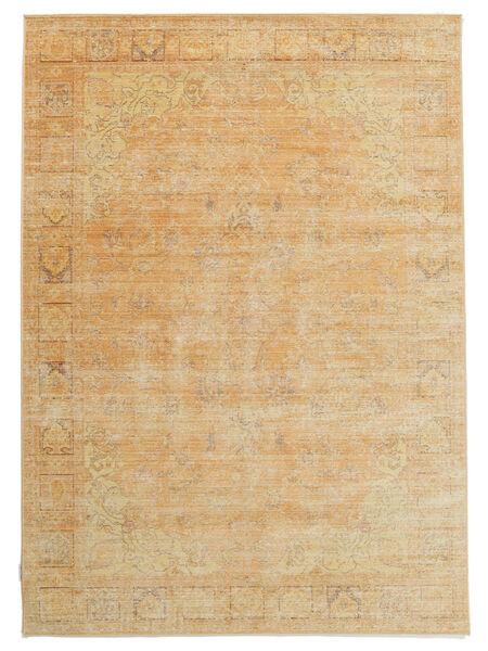 Maharani - Orange Rug 4′7″x6′7″ Modern Orange/Dark Beige ( Turkey)