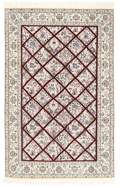 Nain 6La Rug 128X196 Authentic  Oriental Handknotted Light Grey/Beige/White/Creme (Wool/Silk, Persia/Iran)