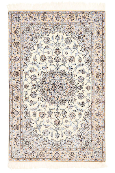 Nain 6La Matta 100X155 Äkta Orientalisk Handknuten Beige/Ljusbrun (Ull/Silke, Persien/Iran)