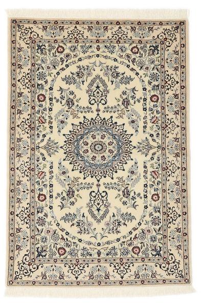 Nain 6La Teppe 100X147 Ekte Orientalsk Håndknyttet Beige/Lysbrun (Ull/Silke, Persia/Iran)