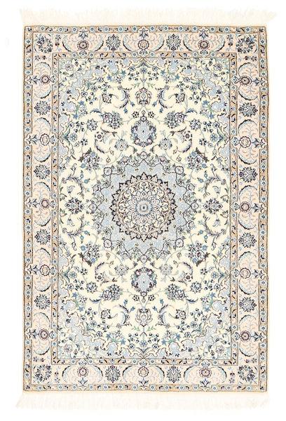 Nain 6La Matto 100X148 Itämainen Käsinsolmittu Beige/Vaaleanharmaa (Villa/Silkki, Persia/Iran)