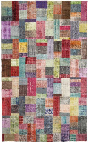 Patchwork Rug 297X501 Authentic  Modern Handknotted Dark Grey/Light Grey Large (Wool, Turkey)