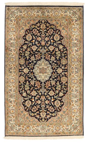 Kashmir Äkta Silke Matta 94X159 Äkta Orientalisk Handknuten Ljusbrun/Brun (Silke, Indien)