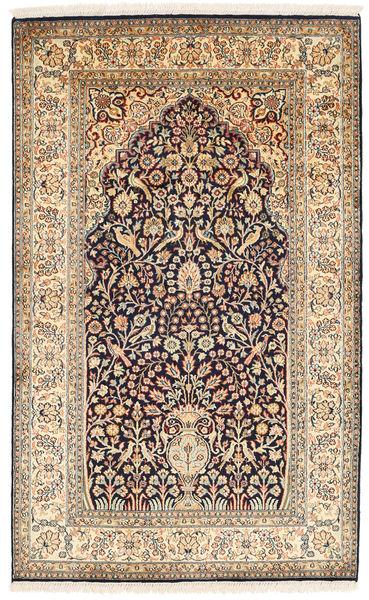 Cachemira Pura De Seda Alfombra 95X155 Oriental Hecha A Mano Beige/Marrón (Seda, India)