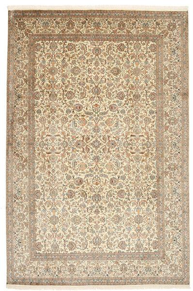 Kashmir Äkta Silke Matta 184X276 Äkta Orientalisk Handknuten Beige/Ljusgrå (Silke, Indien)