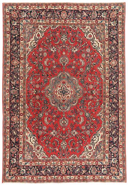 Hamadan Patina Matto 216X318 Itämainen Käsinsolmittu Tummanpunainen/Tummanruskea (Villa, Persia/Iran)