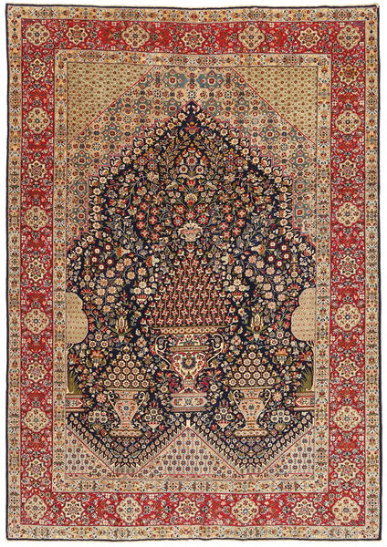 Kerman Patina Rug 223X320 Authentic  Oriental Handknotted Light Brown/Dark Red (Wool, Persia/Iran)
