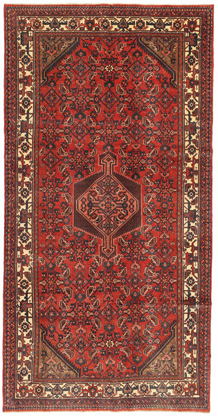 Hamadan Patina Rug 158X310 Authentic  Oriental Handknotted Dark Red/Brown (Wool, Persia/Iran)