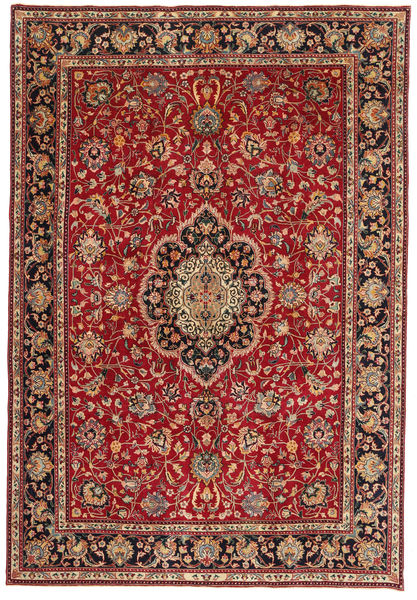 Tabriz Patina Rug 245X365 Authentic  Oriental Handknotted Dark Red/Light Brown (Wool, Persia/Iran)