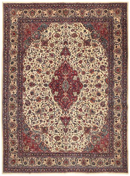 Mashad Patina Alfombra 302X408 Oriental Hecha A Mano Marrón Oscuro/Marrón Claro Grande (Lana, Persia/Irán)