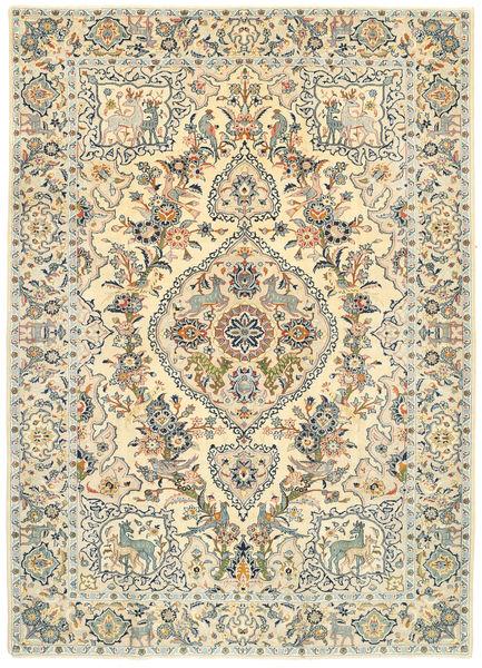 Keshan Patina Figurální/Obrazový Koberec 213X305 Orientální Ručně Tkaný Béžová/Světle Hnědá (Vlna, Persie/Írán)