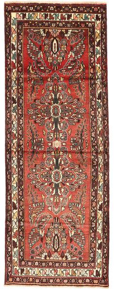 Hamadan Matto 105X288 Itämainen Käsinsolmittu Käytävämatto Tummanpunainen/Tummanruskea (Villa, Persia/Iran)