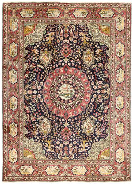 Tabriz Rug 256X356 Authentic  Oriental Handknotted Dark Blue/Brown Large (Wool, Persia/Iran)