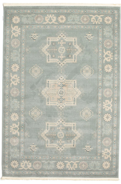 Kazak Lafayette Rug 160X230 Oriental Light Grey/Turquoise Blue ( Turkey)
