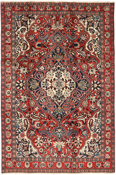 Bachtiar Teppich  205X310 Echter Orientalischer Handgeknüpfter Dunkelrot/Braun (Wolle, Persien/Iran)