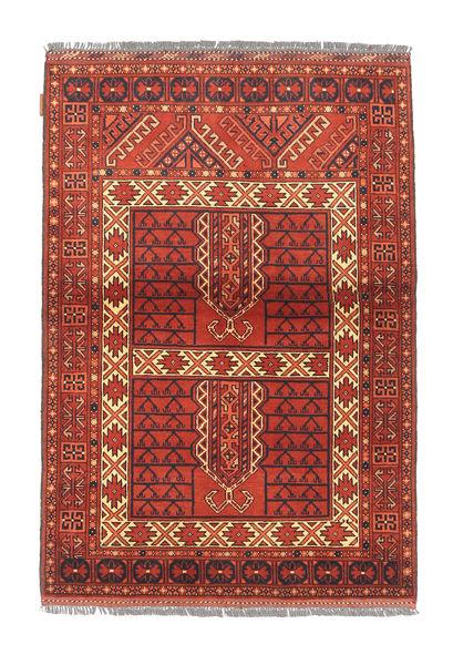 Afghan Kargahi Matto 104X151 Itämainen Käsinsolmittu Ruoste/Tummanpunainen/Ruskea (Villa, Afganistan)