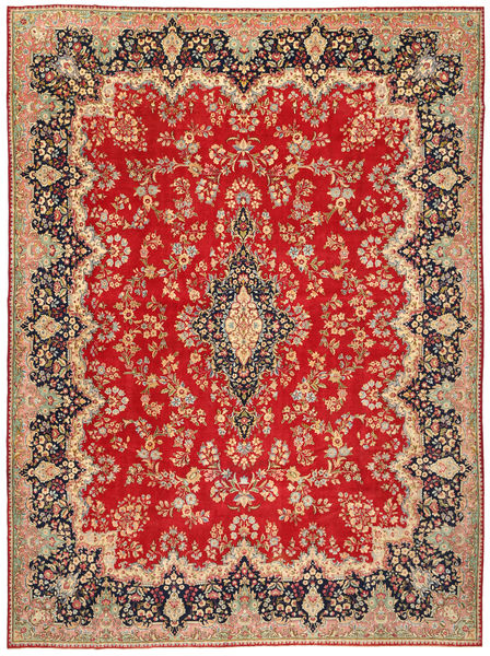 Kerman Patina Matto 291X390 Itämainen Käsinsolmittu Ruoste/Ruskea Isot (Villa, Persia/Iran)