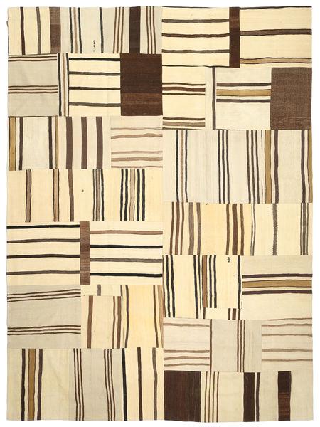 Kilim Patchwork Rug 290X397 Authentic  Modern Handwoven Beige/Dark Brown Large (Wool, Turkey)