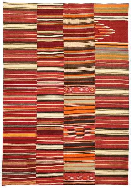 Kilim Patchwork Tapis 245X360 Moderne Tissé À La Main Rouge Foncé/Rouille/Rouge (Laine, Turquie)