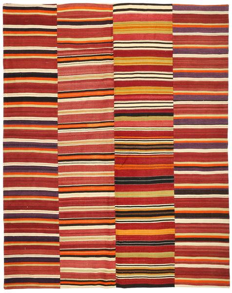 Kelim Patchwork Matto 235X297 Moderni Käsinkudottu Ruoste/Tummanpunainen (Villa, Turkki)