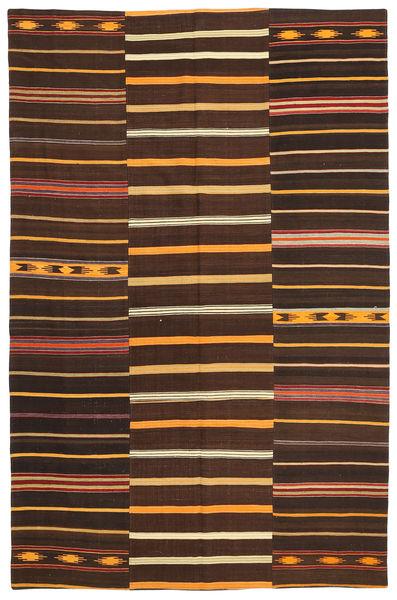 Kilim Patchwork Szőnyeg 173X267 Modern Kézi Szövésű Sötétpiros/Sötétbarna (Gyapjú, Törökország)