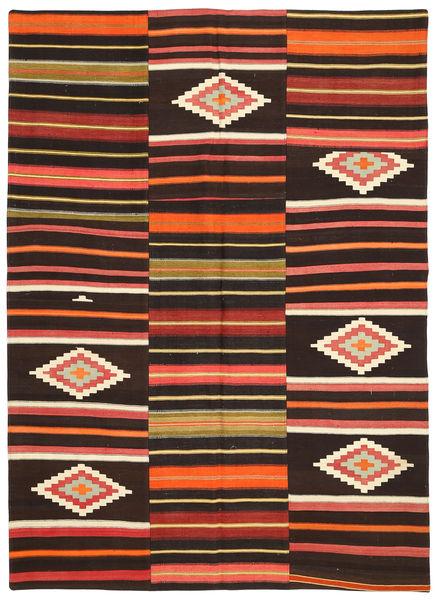 Kilim Patchwork Szőnyeg 175X241 Modern Kézi Szövésű Sötétpiros/Rozsdaszín (Gyapjú, Törökország)