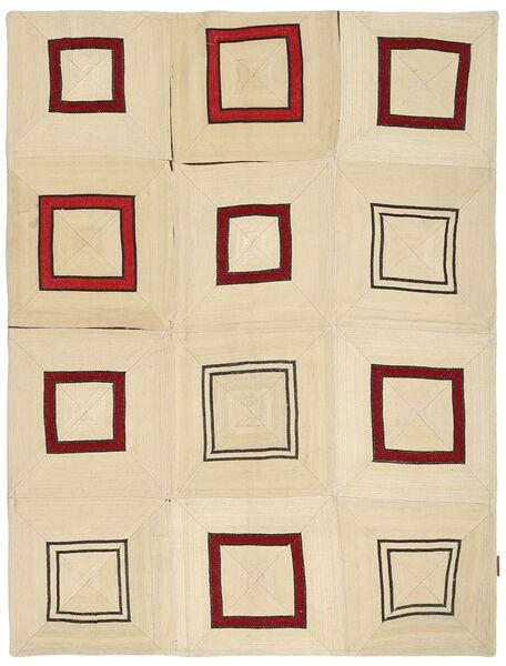 キリム パッチワーク 絨毯 163X215 モダン 手織り ベージュ (ウール, トルコ)