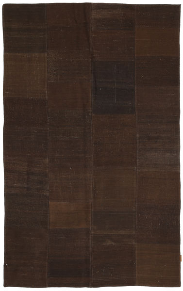 Kilim Patchwork Rug 170X280 Authentic  Modern Handwoven Dark Brown (Wool, Turkey)