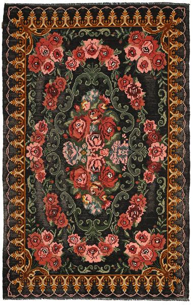 Kilim Moldavia Rug 200X315 Authentic  Oriental Handwoven Dark Grey/Dark Red (Wool, Moldova)