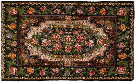 Ruusukelim Matto 233X380 Itämainen Käsinkudottu Tummanvihreä/Ruskea (Villa, Moldova)