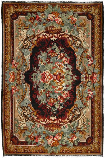 Rose Kelim Rug 206X306 Authentic  Oriental Handwoven Brown/Dark Red (Wool, Moldova)