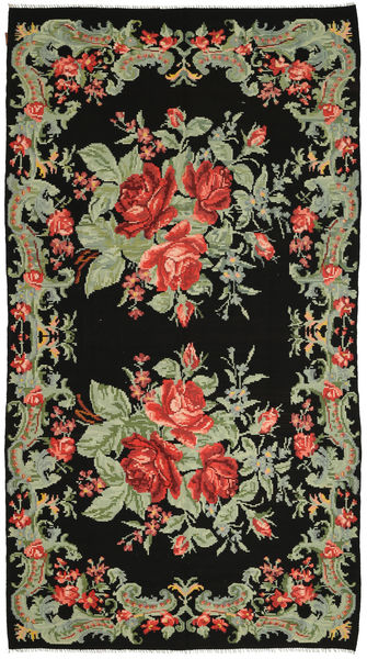 Rose Kelim Rug 179X331 Authentic  Oriental Handwoven (Wool, Moldova)