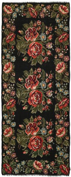 Kilim Rose Dywan 164X420 Orientalny Tkany Ręcznie Chodnik Ciemnozielony/Ciemnobrązowy (Wełna, Mołdawia)