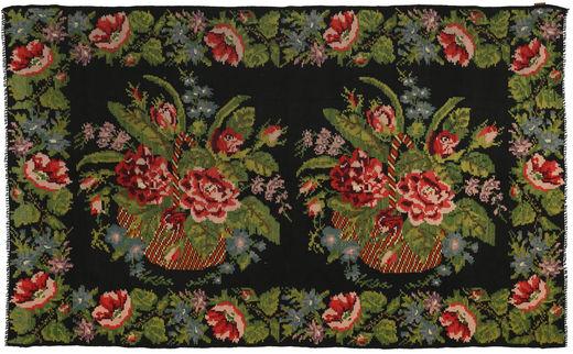 Rose Kelim Rug 194X321 Authentic  Oriental Handwoven Dark Green/Dark Red (Wool, Moldova)