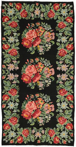 Kilim Rose Dywan 172X350 Orientalny Tkany Ręcznie Ciemnoszary/Zielony/Oliwkowy (Wełna, Mołdawia)
