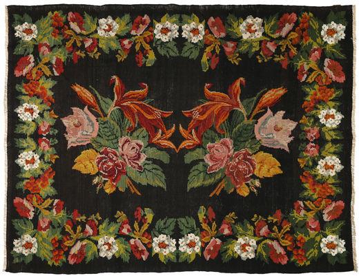 Ruusukelim Matto 226X297 Itämainen Käsinkudottu Musta/Ruoste (Villa, Moldova)